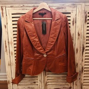 NWT Lafayette148 New York Leather Jacket